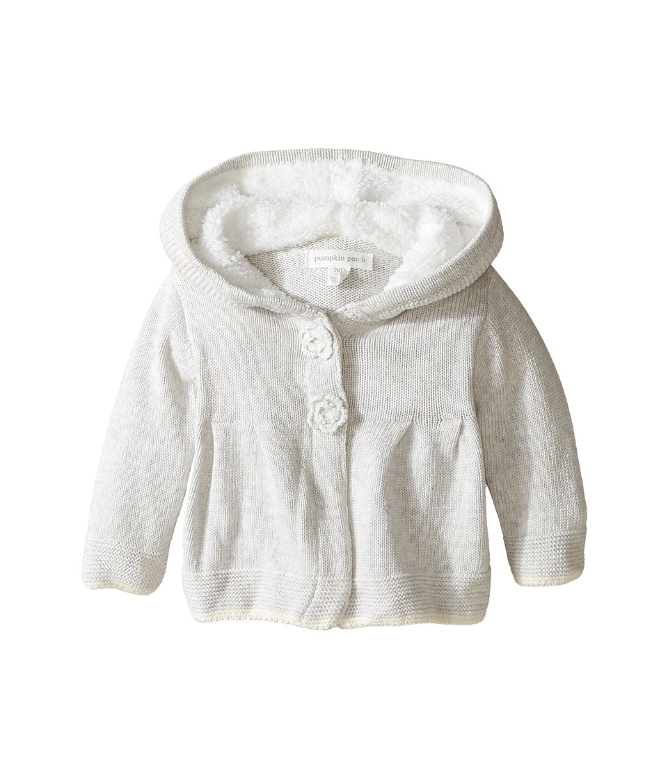 Pumpkin Patch Kids - Hooded Knit Cardigan (Infant) (Vapour Marle) Girl's Sweater