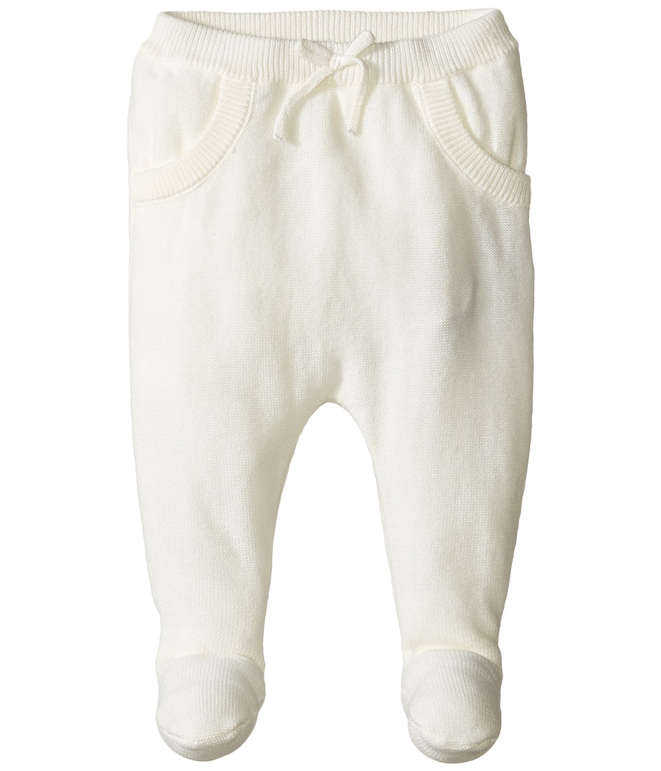 Pumpkin Patch Kids - Knit Footed Pants (Infant) (French Vanilla) Kid's Casual Pants