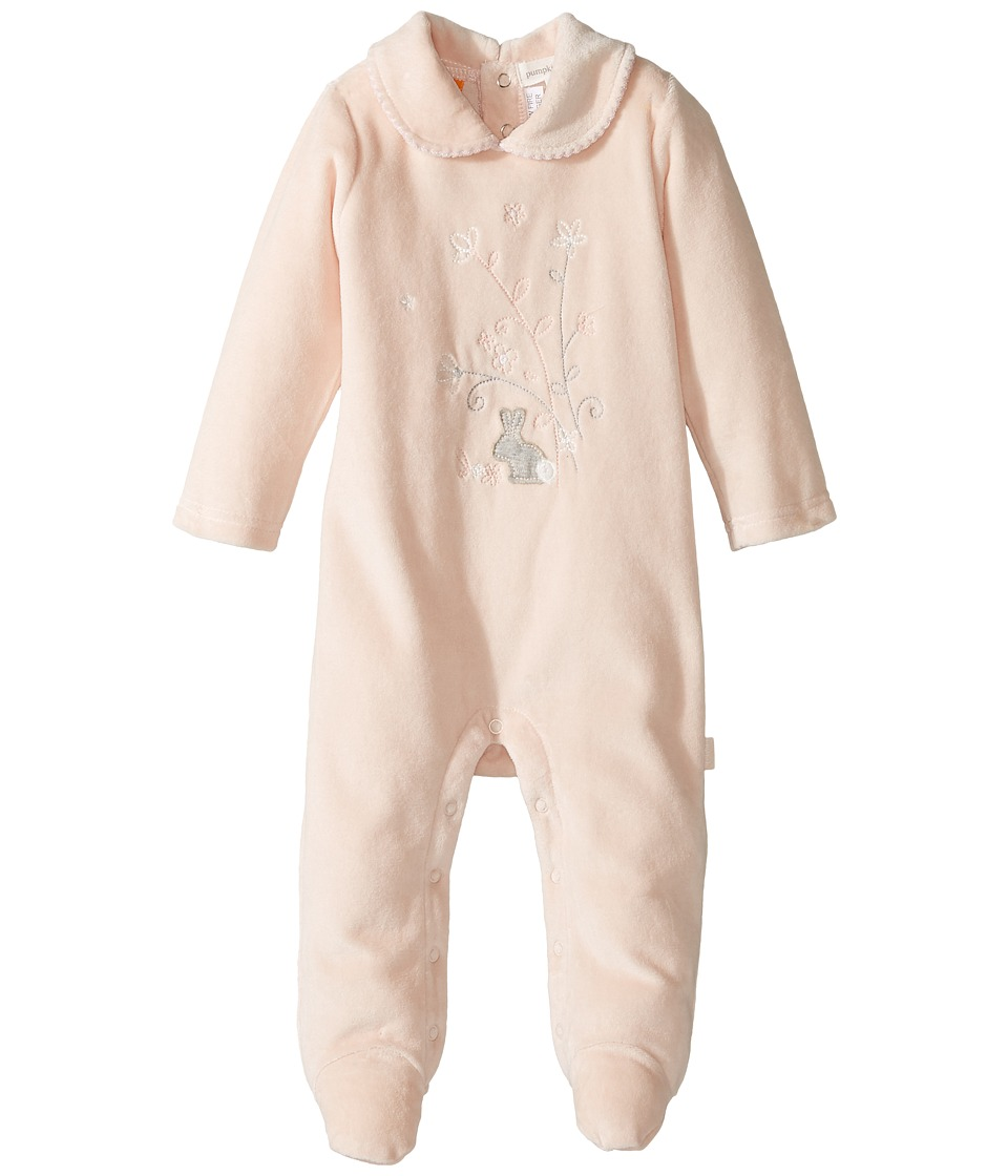 Pumpkin Patch Kids - Velour All-In-One (Infant) (Silver Peony) Kid's Jumpsuit & Rompers One Piece