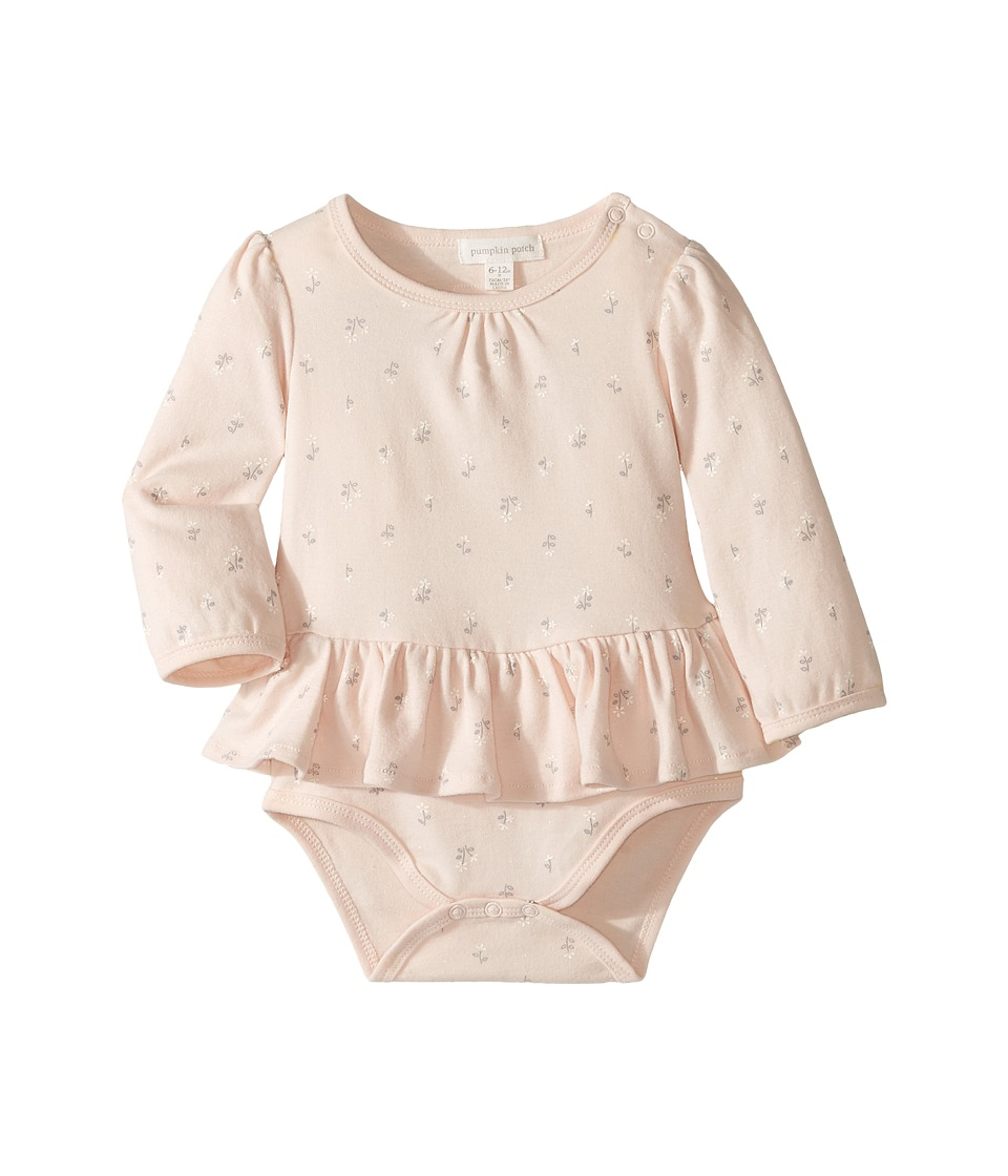 Pumpkin Patch Kids - Skirted Bodysuit (Infant) (Silver Peony) Girl's Jumpsuit & Rompers One Piece
