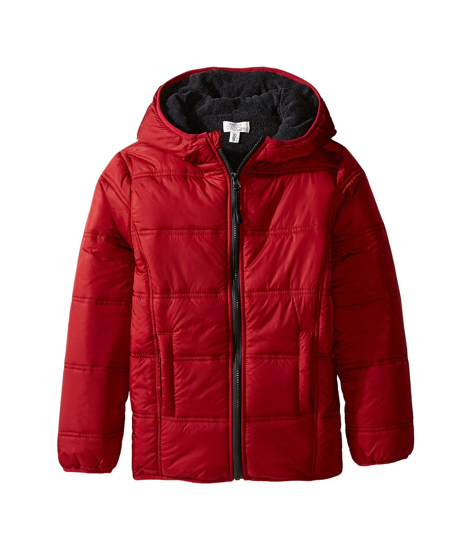 Pumpkin Patch Kids - Zip Through Puffer Jacket (Infant/Toddler/Little Kids/Big Kids) (Garnet) Boy's Coat