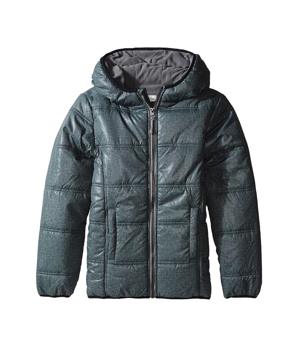 Pumpkin Patch Kids - Zip Through Puffer Jacket (Infant/Toddler/Little Kids/Big Kids) (Caviar) Boy's Coat