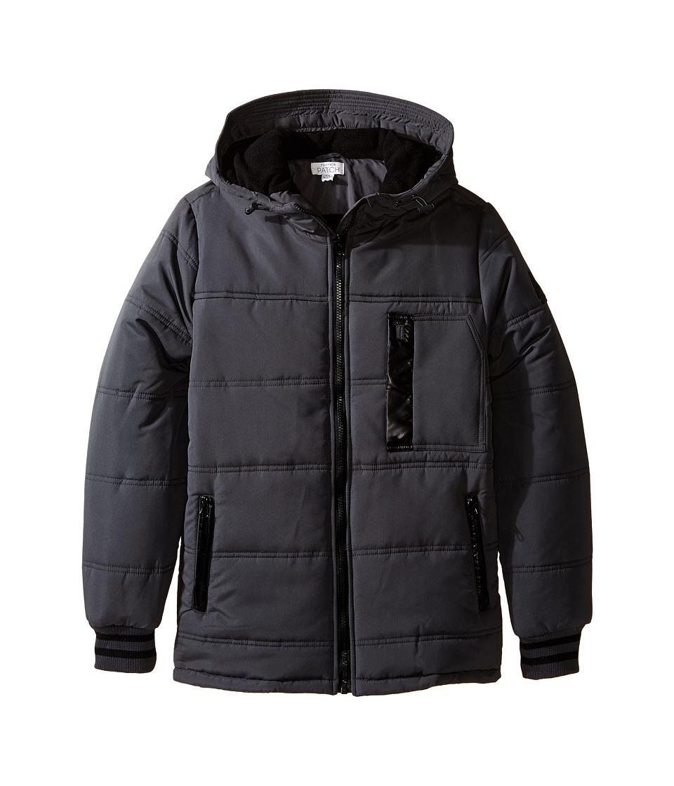 Pumpkin Patch Kids - Padded Jacket with Earphone Pocket (Big Kids) (New Grey) Boy's Coat