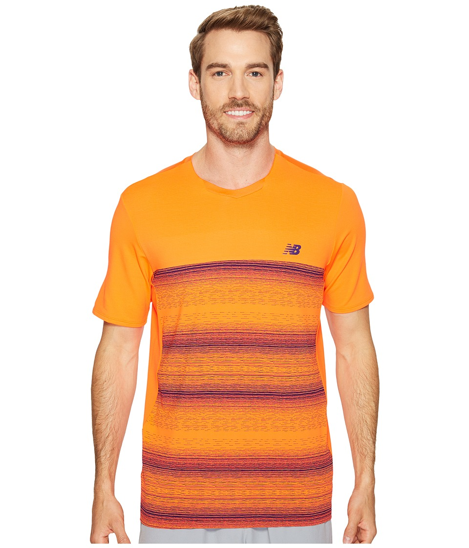 New Balance - Yarra Crew (Alpha Orange) Men's Short Sleeve Pullover