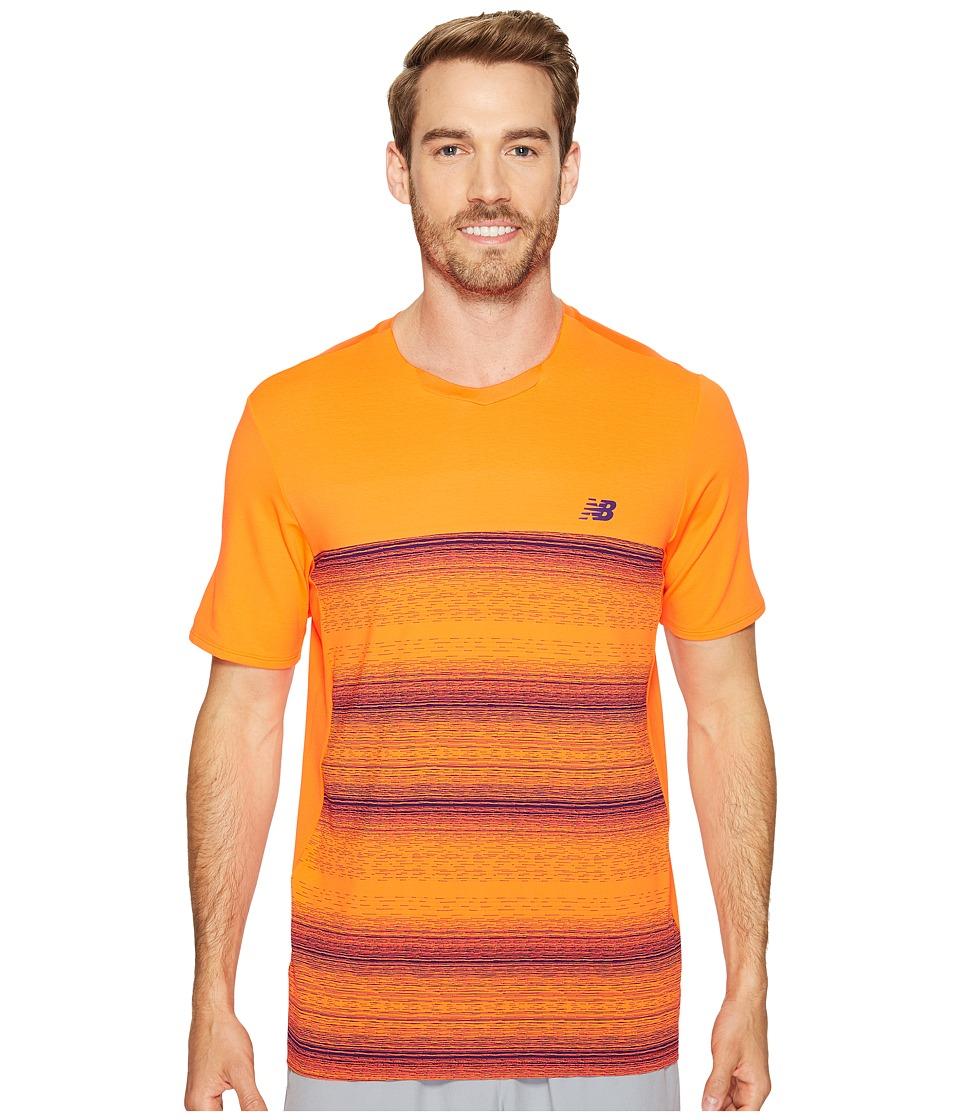 New Balance - Yarra Crew (Alpha Orange) Men's Short Sleeve Pullover