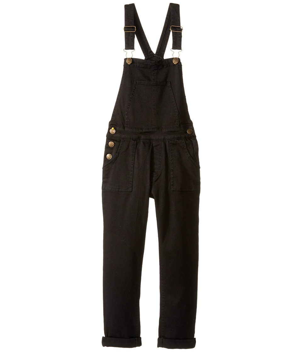 Pumpkin Patch Kids - Denim Jeans (Little Kids/Big Kids) (Black Wash) Girl's Overalls One Piece