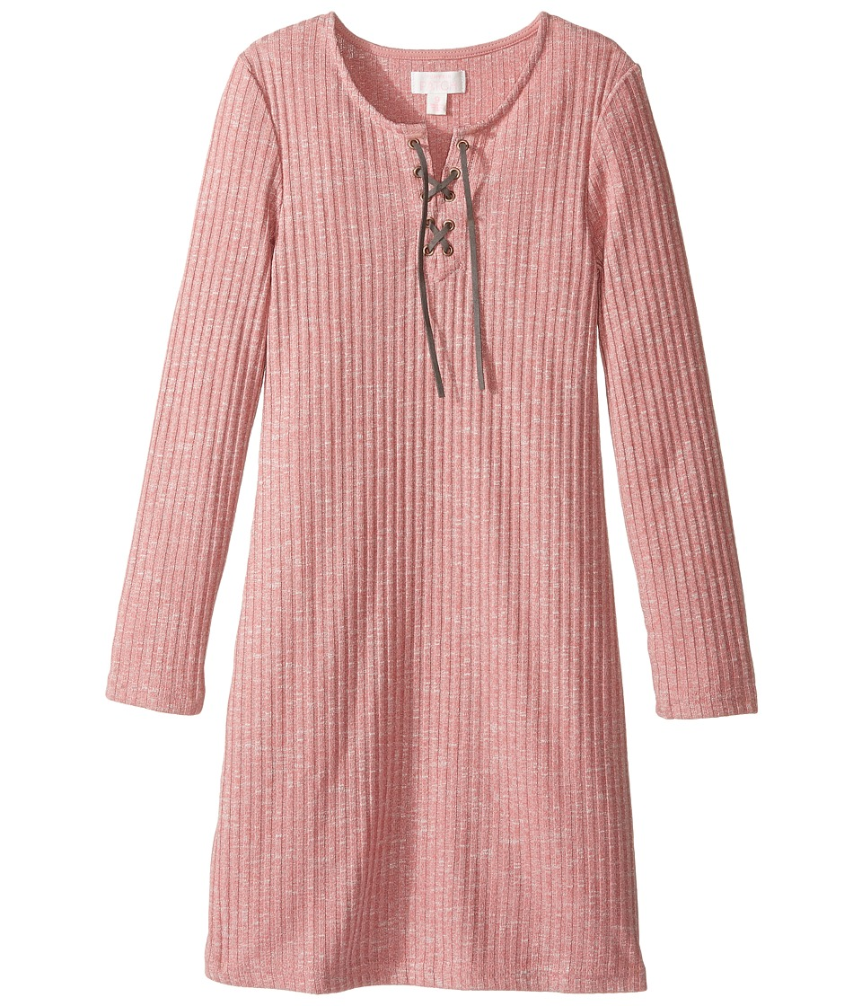 Pumpkin Patch Kids - Lara Lace-Up Front Dress (Little Kids/Big Kids) (Dusty Rose) Girl's Dress