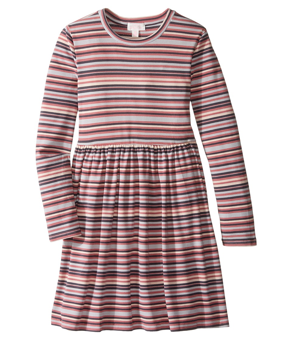 Pumpkin Patch Kids - Striped Rib Dress (Little Kids/Big Kids) (Dusty Rose) Girl's Dress
