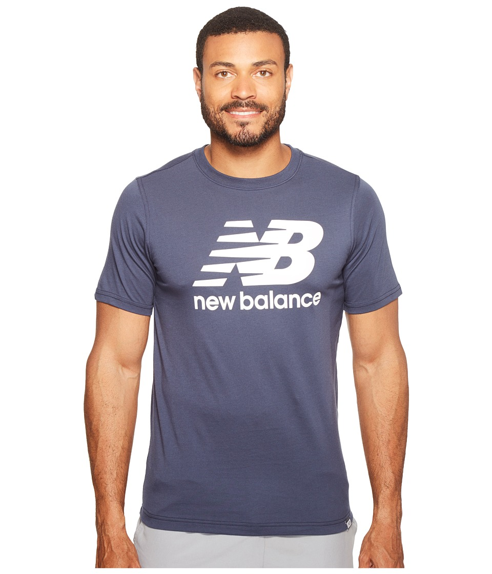 New Balance - Classic Short Sleeve Logo Tee (Navy) Men's T Shirt