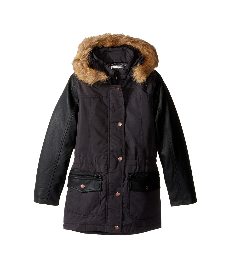 Pumpkin Patch Kids - Spliced Padded Jacket (Little Kids/Big Kids) (Black Wash) Girl's Coat