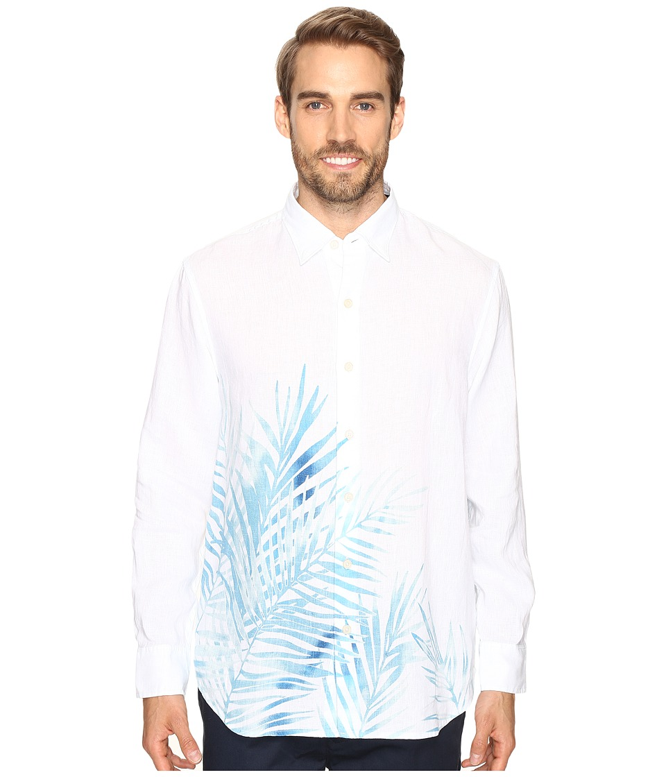 Tommy Bahama - Fo'Rio Fronds Long Sleeve Woven Shirt (Maui Blue) Men's Long Sleeve Button Up