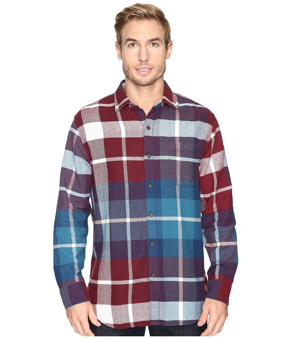 Tommy Bahama - Acai Flannel Long Sleeve Woven Shirt (Aged Claret) Men's Long Sleeve Button Up