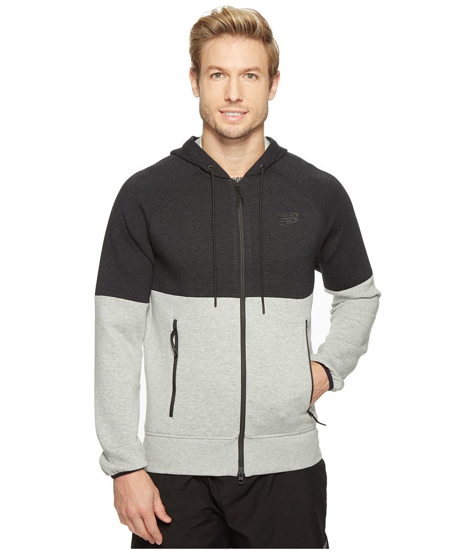 New Balance - Sport Style Full Zip (Athletic Grey/Black) Men's Sweatshirt