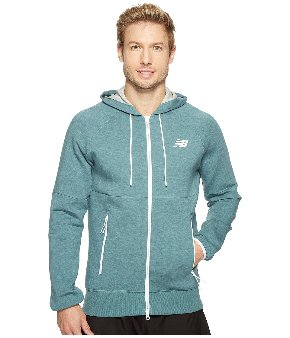New Balance - Sport Style Full Zip (Typhoon Heather) Men's Sweatshirt
