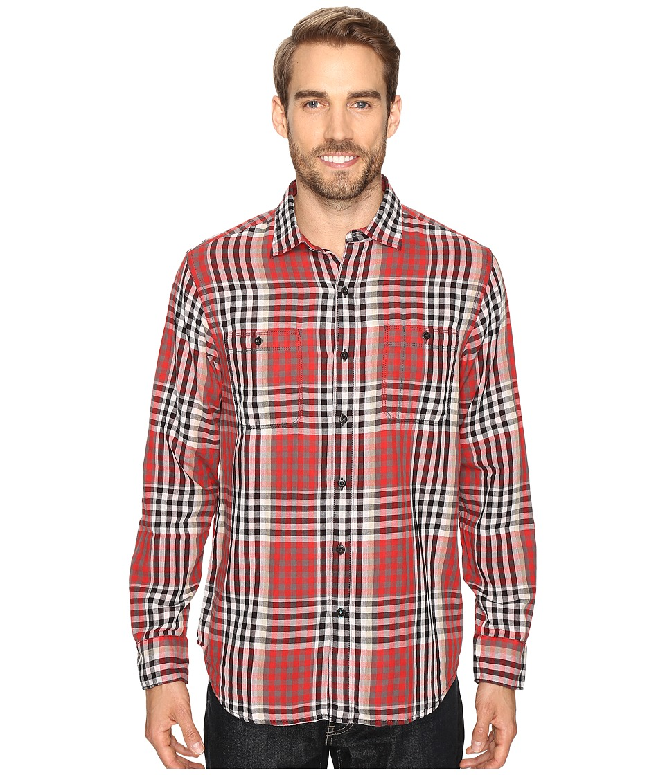 Tommy Bahama - Parana Plaid Long Sleeve Woven Shirt (Cherry Tomato) Men's Long Sleeve Button Up