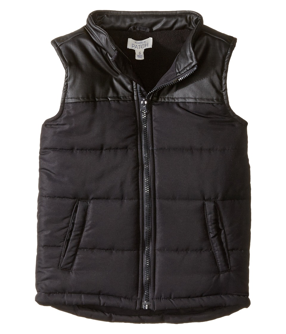 Pumpkin Patch Kids - Black Puffer Vest (Infant/Toddler/Little Kids) (Caviar) Boy's Vest
