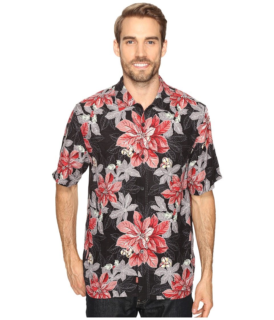 Tommy Bahama - Festive Flora Short Sleeve Woven Shirt (Jet Black) Men's Short Sleeve Button Up