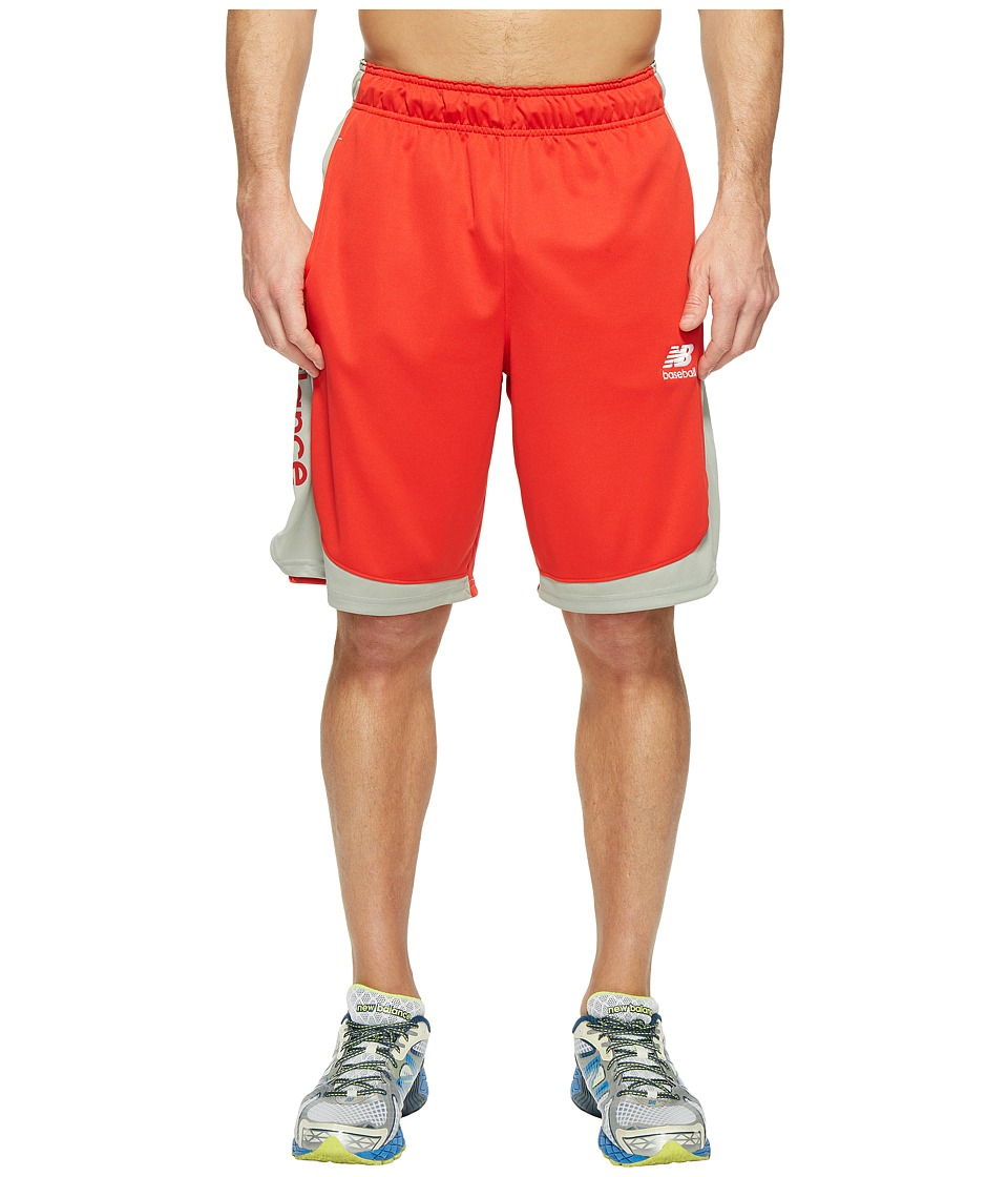 New Balance Baseball Training Shorts (Team Red) Men