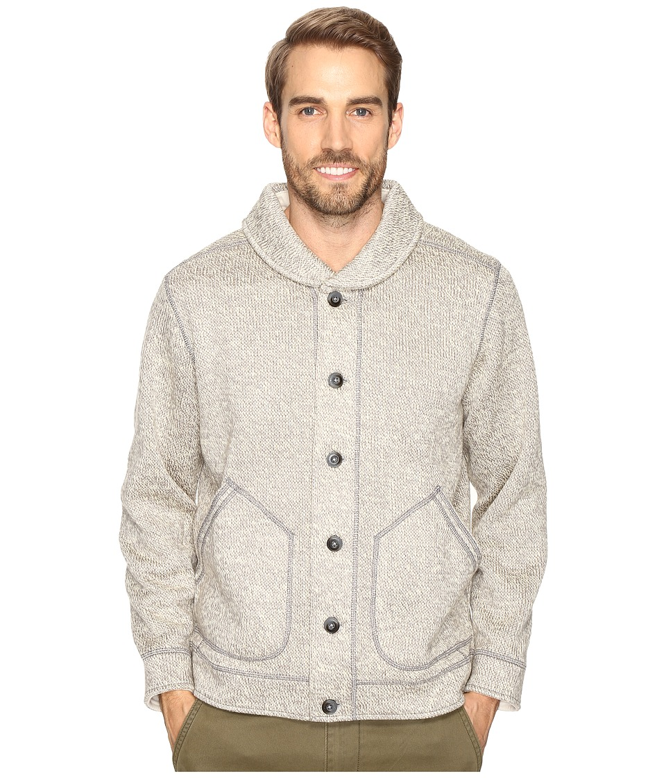 Tommy Bahama - Crescent Lake Cardigan (Light Grey) Men's Sweater