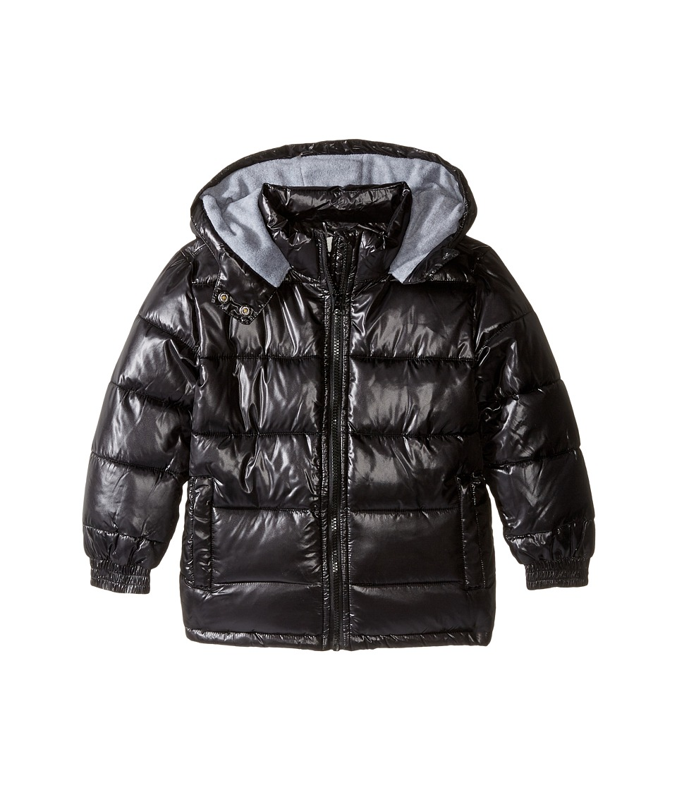 Pumpkin Patch Kids - High Shine Black Puffer Jacket (Infant/Toddler/Little Kids/Big Kids) (Caviar) Boy's Coat