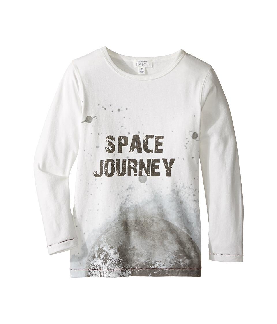 Pumpkin Patch Kids - Long Sleeved Space Tee (Infant/Toddler/Little Kids/Big Kids) (Cloud Dancer) Boy's T Shirt