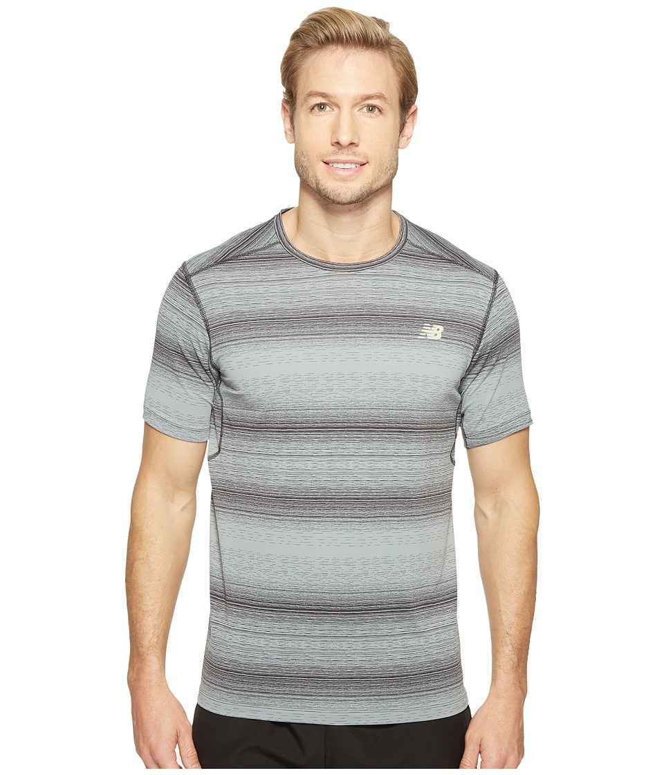 New Balance - Kairosport Tee (Heather Charcoal/Outerspace) Men's T Shirt