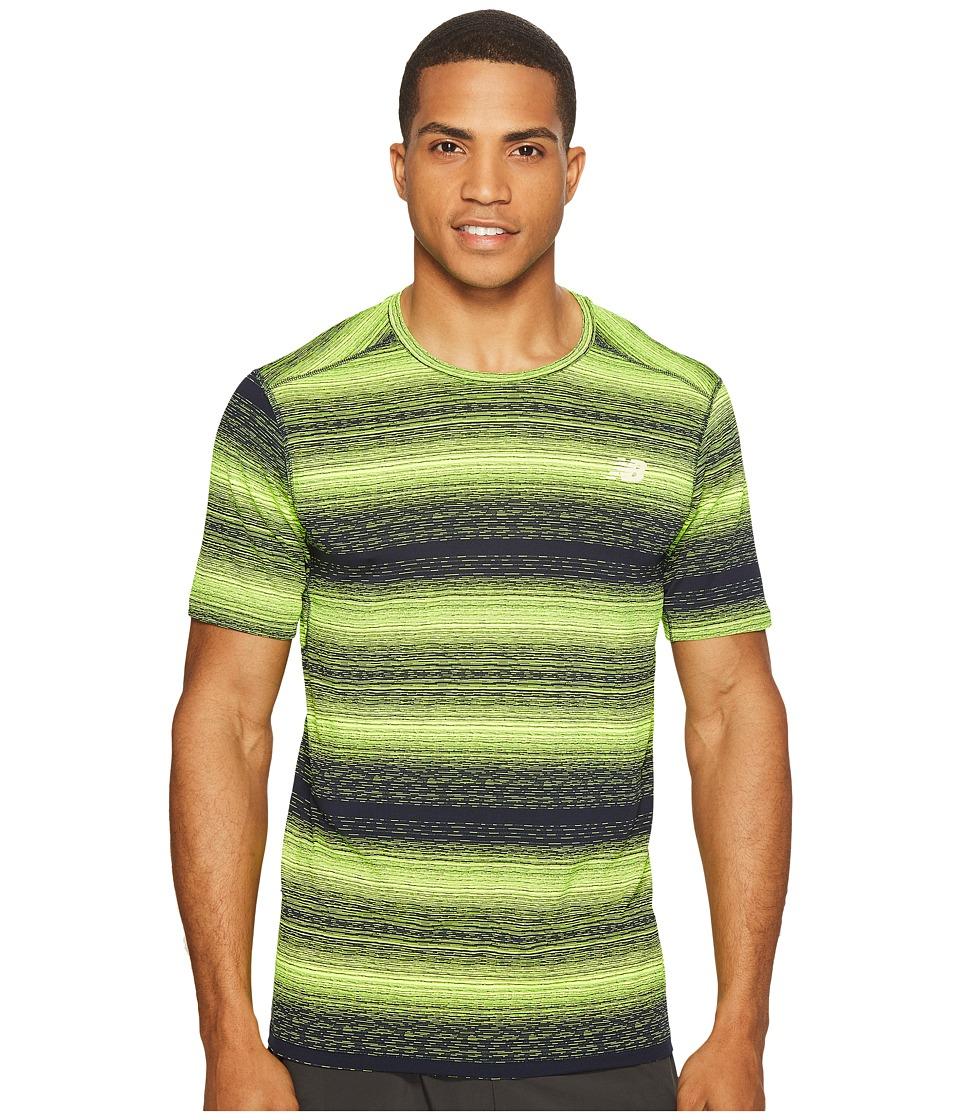 New Balance - Kairosport Tee (Hi-Lite Heather/Pigment) Men's T Shirt