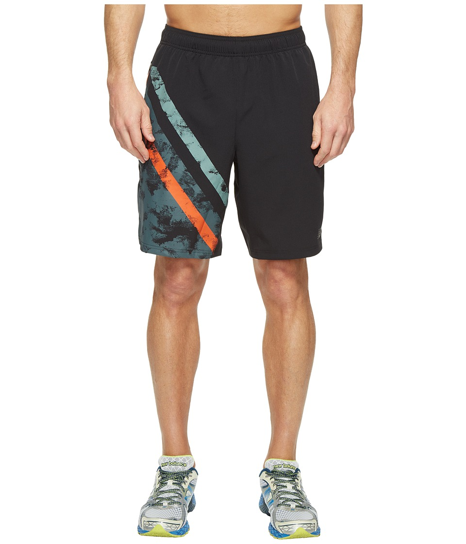 New Balance - Max Intensity Shorts (Black Print/Alpha Orange) Men's Shorts