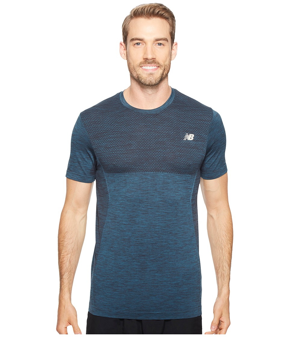 New Balance - M4M Seamless Short Sleeve Top (Tornado Heather) Men's Short Sleeve Pullover