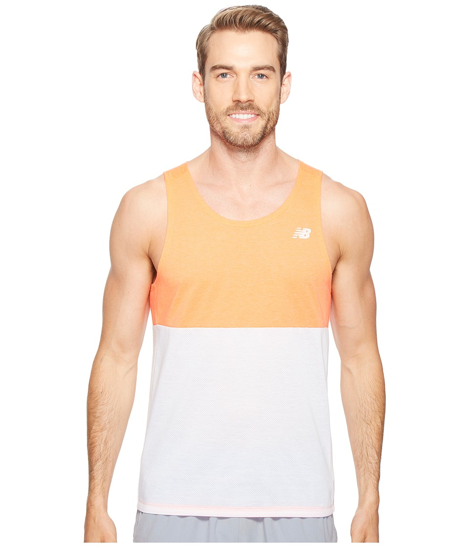 New Balance - CBK Breathe Tank Top (Sunrise/White) Men's Sleeveless