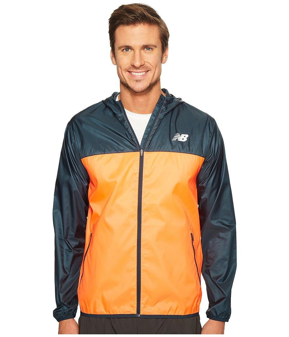 New Balance - Windcheater Jacket (Alpha Orange/Supercell) Men's Coat