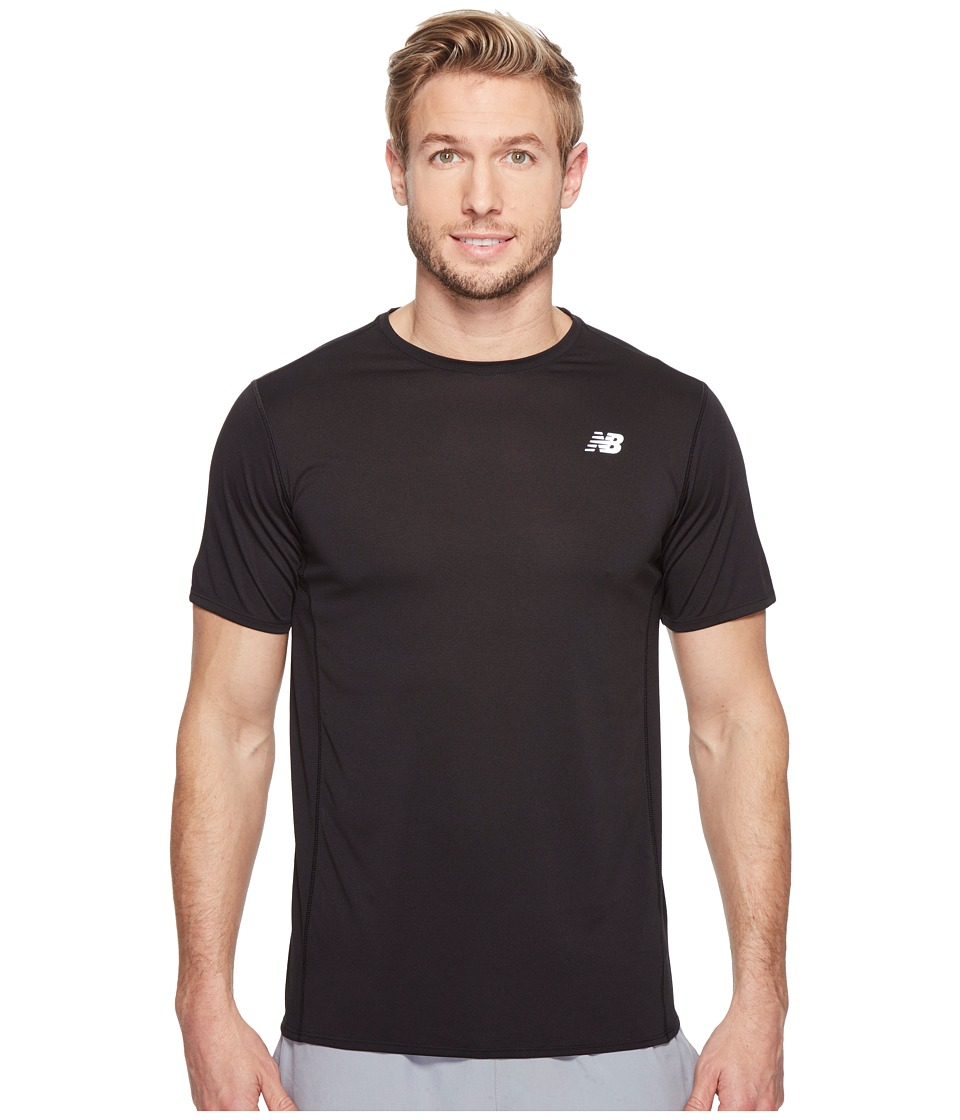 New Balance - Accelerate Short Sleeve (Black) Men's T Shirt