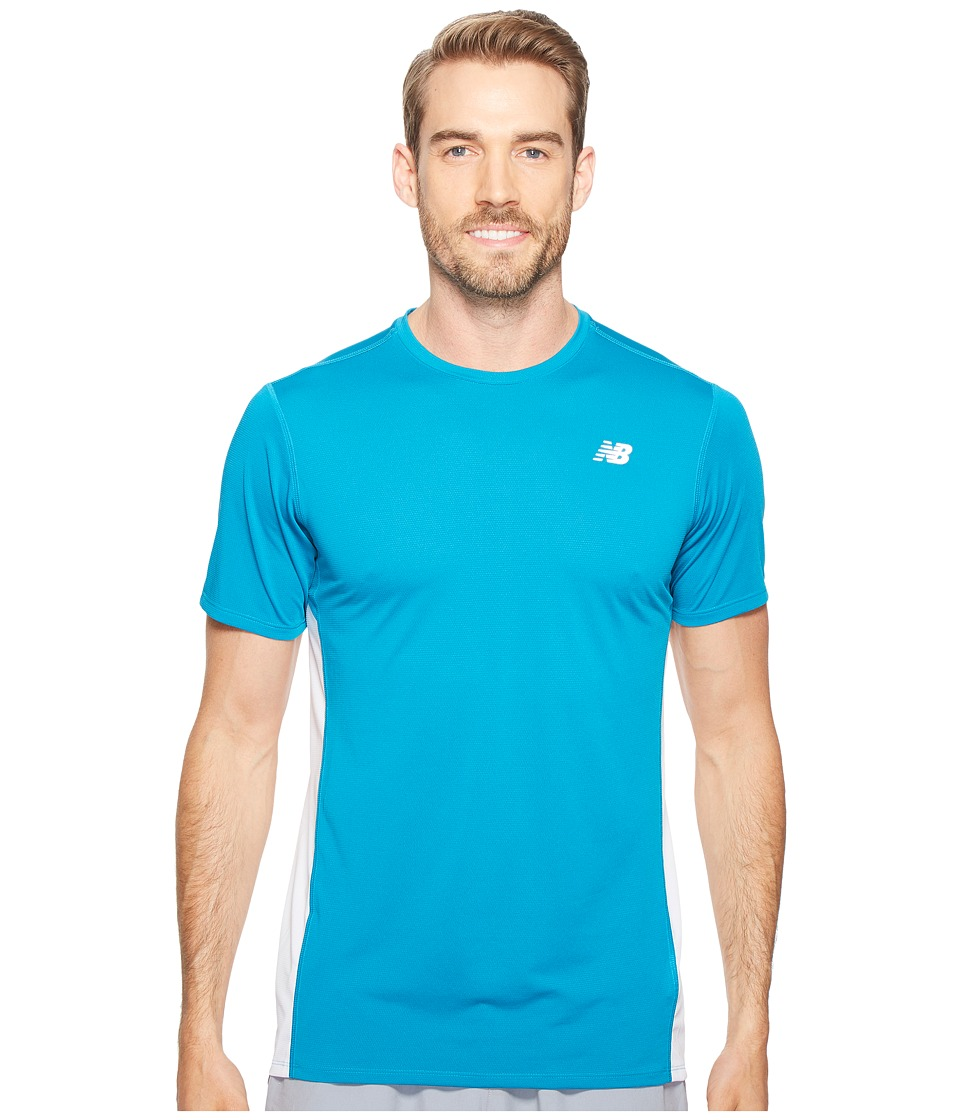 New Balance - Accelerate Short Sleeve (Deep Ozone Blue/White) Men's T Shirt