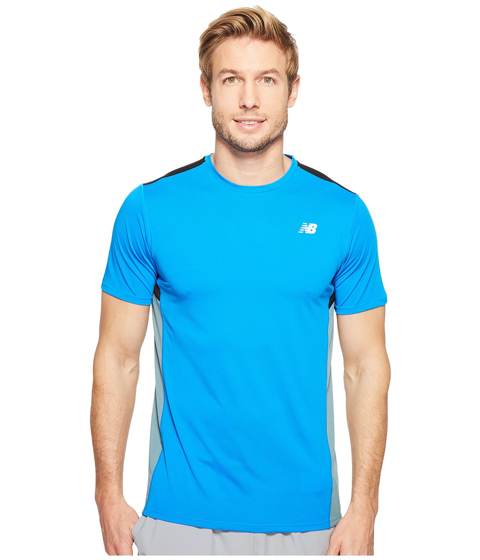 New Balance - Accelerate Short Sleeve (Electric Blue/Typhoon/Black) Men's T Shirt