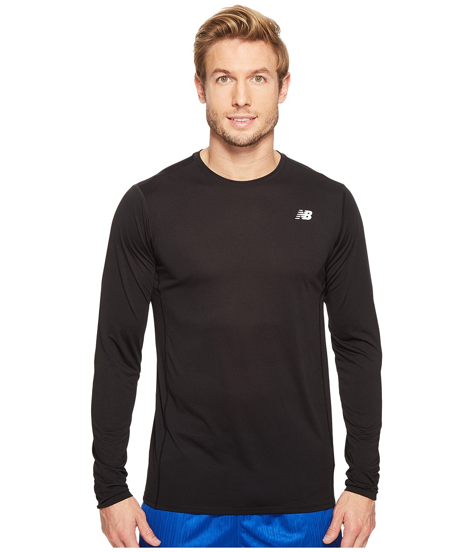 New Balance - Accelerate Long Sleeve Shirt (Black) Men's Long Sleeve Pullover