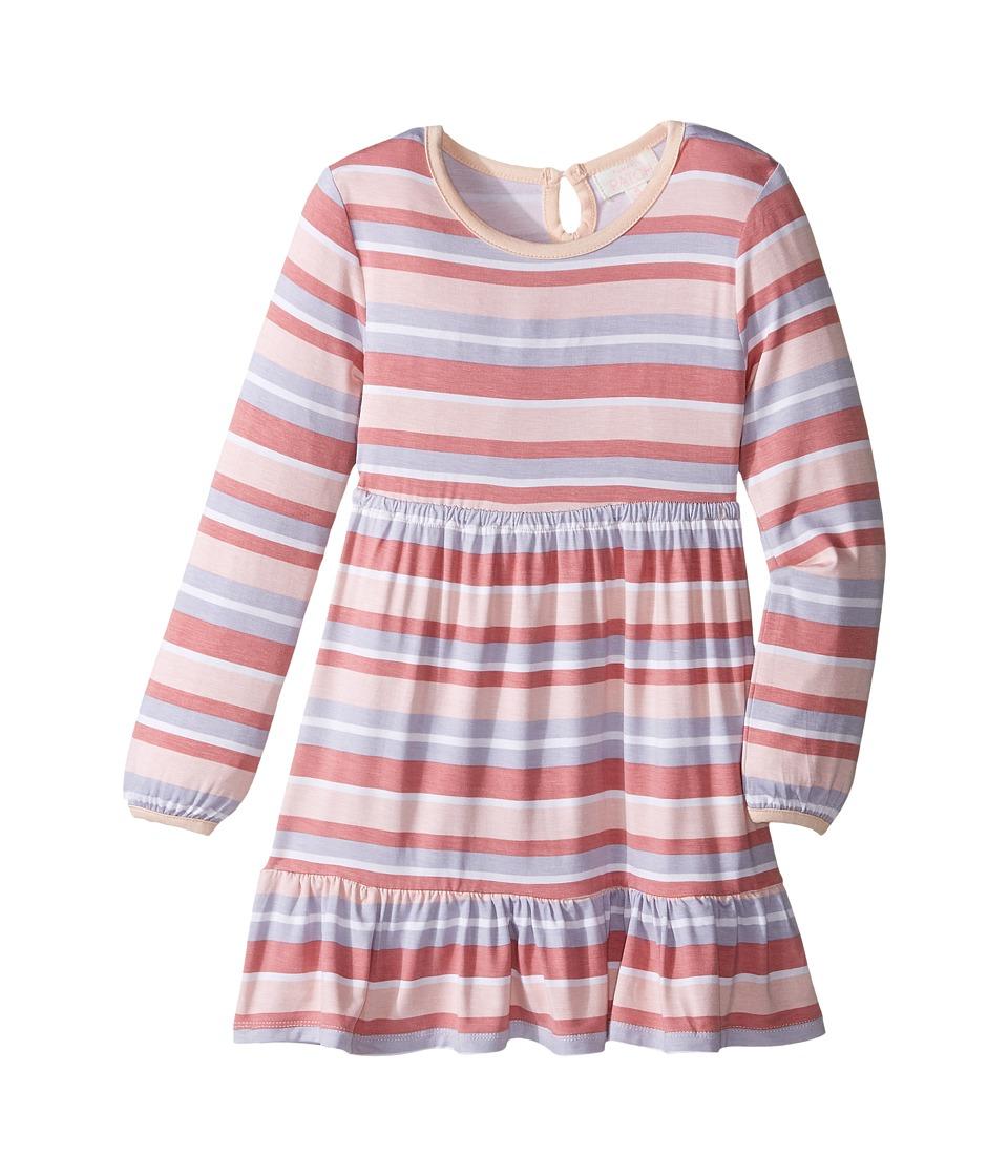 Pumpkin Patch Kids - Stripe Skater Dress (Infant/Toddler/Little Kids/Big Kids) (Powder Pink) Girl's Dress
