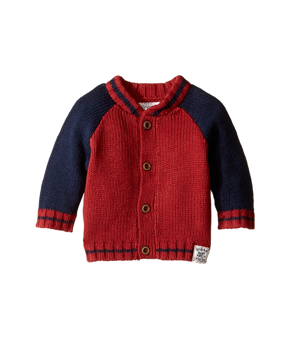 Pumpkin Patch Kids - Baseball Cardigan (Infant) (Insignia Blue) Boy's Sweater