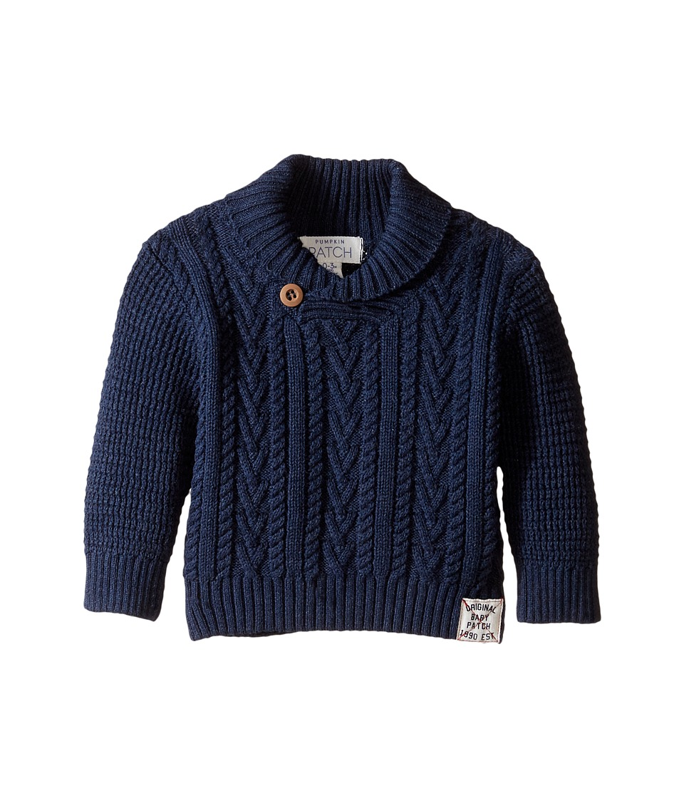 Pumpkin Patch Kids - Cable Marle Sweater (Infant) (Insignia Blue) Boy's Sweater