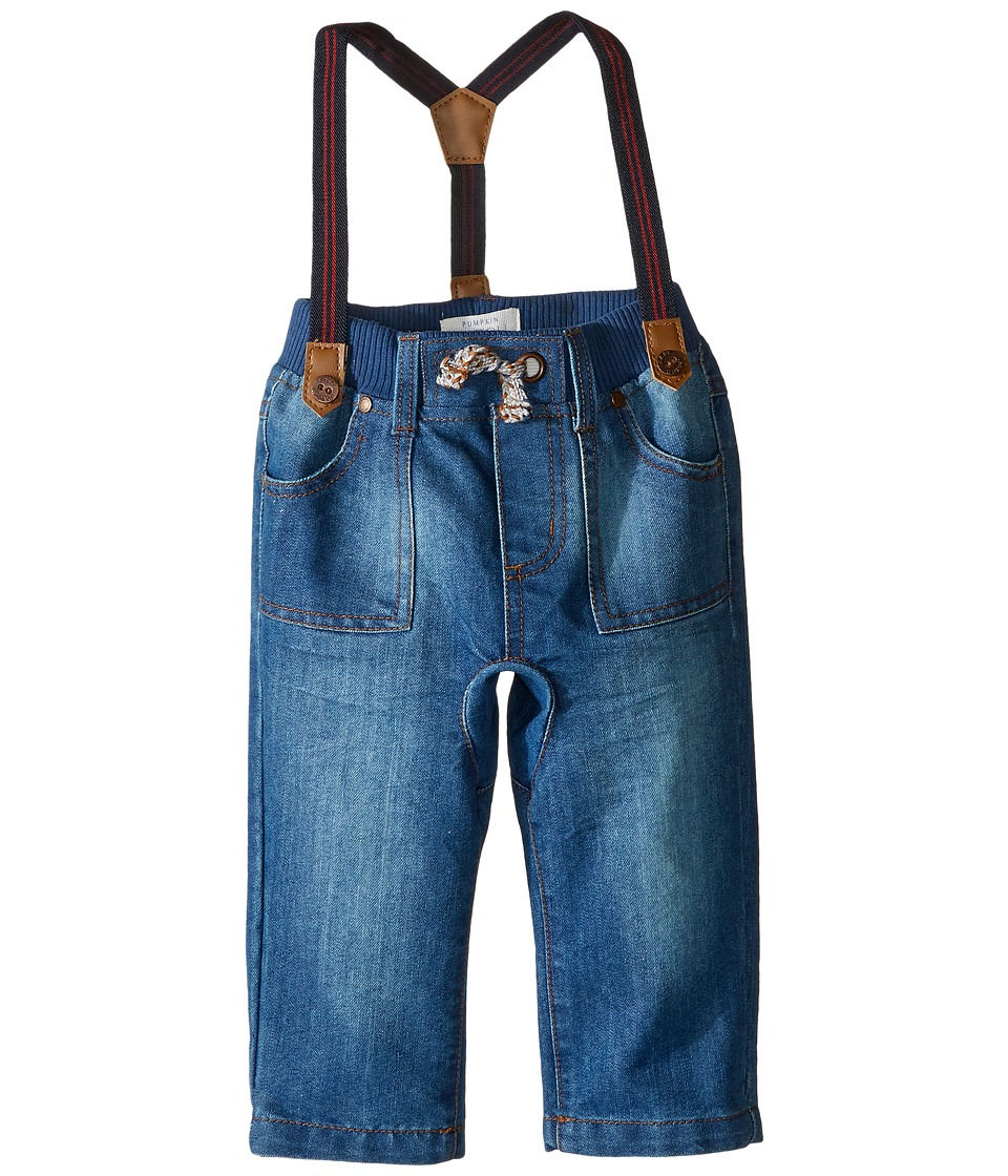 Pumpkin Patch Kids - Crotch Panel Jeans with Suspenders (Infant) (Lake Wash) Boy's Jeans
