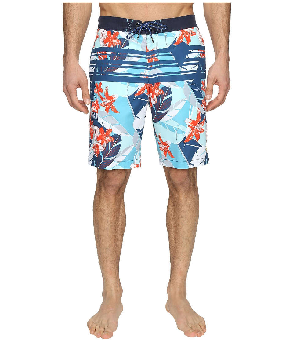 Tommy Bahama - Baja Carnival Gardens Swim Trunks (Maui Blue) Men's Swimwear