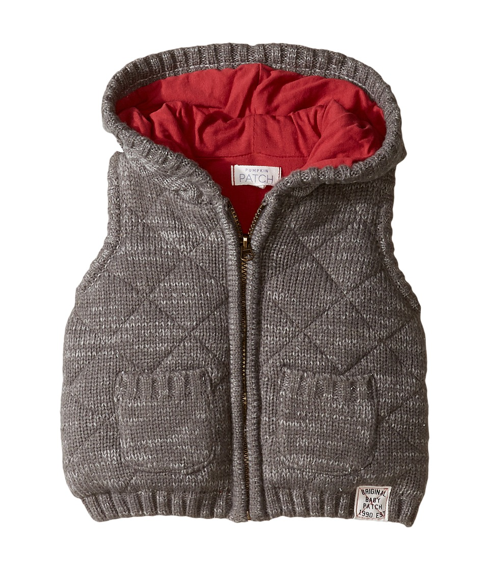 Pumpkin Patch Kids - Quilted Knit Vest (Infant) (Concrete Marle) Boy's Vest