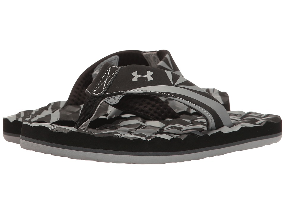 Under Armour Kids - UA Marathon Key II T (Toddler/Little Kid/Big Kid) (Black/Grey Wolf/Rhino Grey) Boys Shoes