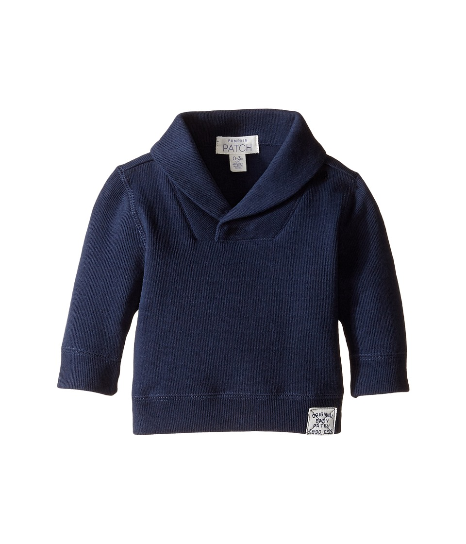 Pumpkin Patch Kids - Shawl Collar Jacket (Infant) (Insignia Blue) Boy's Coat