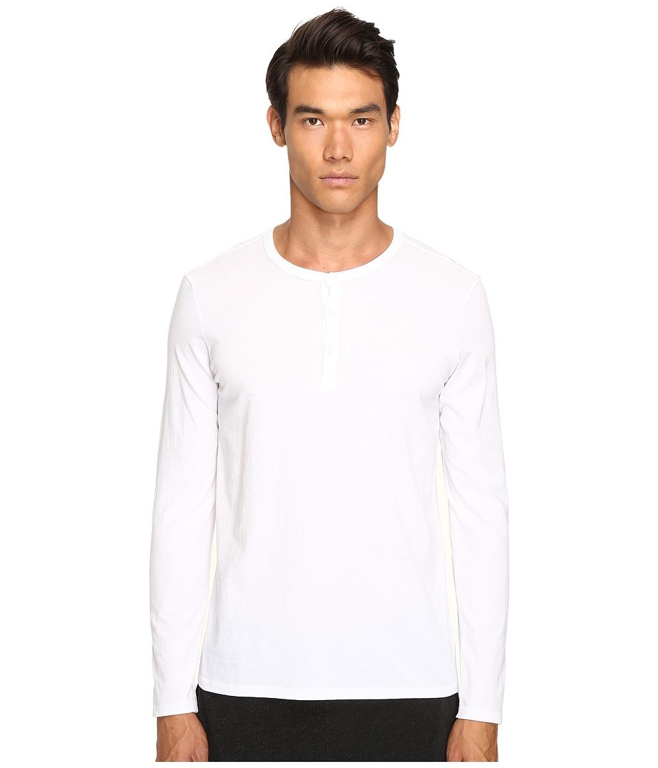 Image of ATM Anthony Thomas Melillo - Classic Henley (White) Men's Long Sleeve Pullover