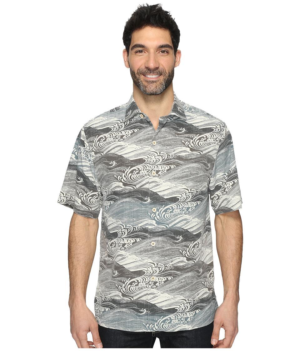Tommy Bahama - Bayside Tide Short Sleeve Woven Shirt (Balsam Green) Men's Short Sleeve Button Up