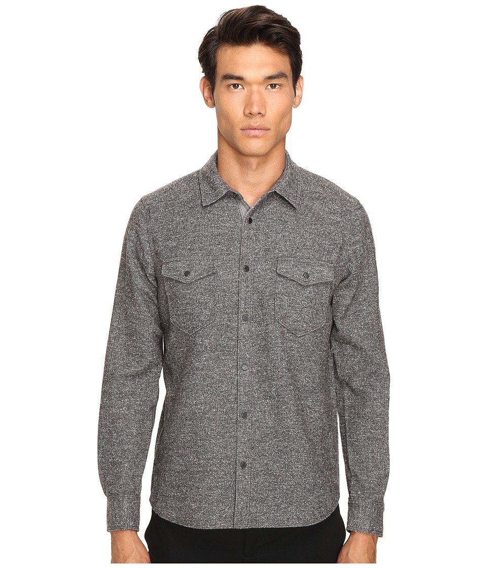 ATM Anthony Thomas Melillo - Donegal Twill Shirt (Charcoal) Men's Short Sleeve Knit