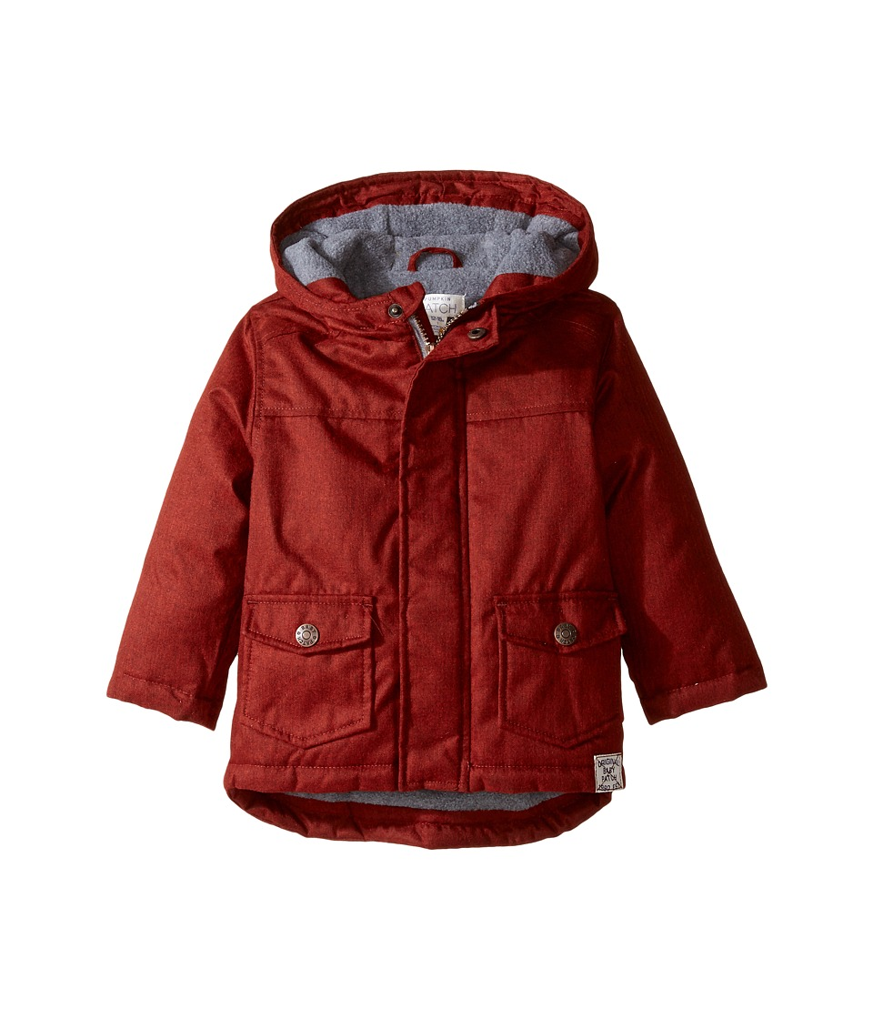 Pumpkin Patch Kids - Twill Hooded Jacket (Infant) (Chilli Pepper) Boy's Coat