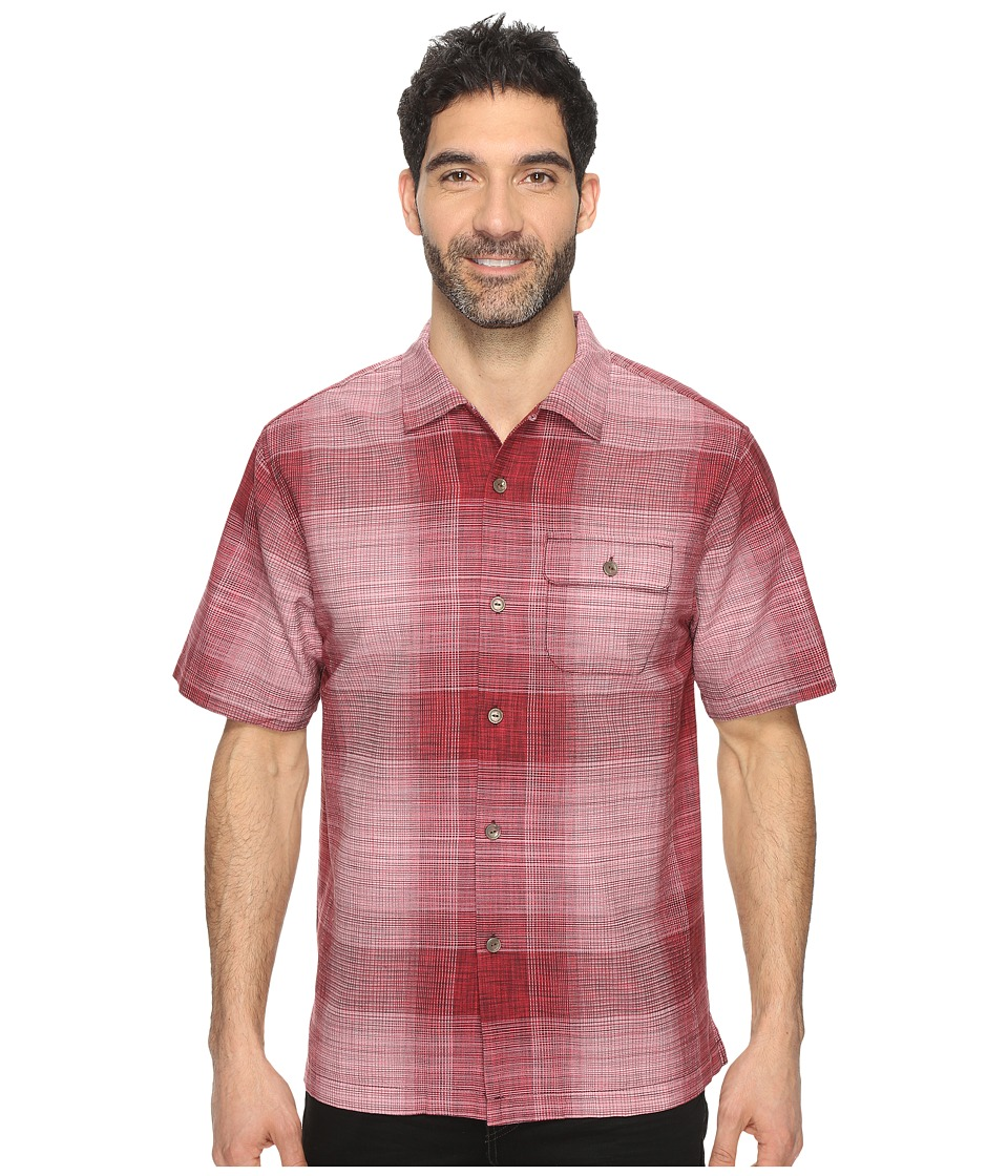Tommy Bahama - Orinoco Ombre Short Sleeve Woven Shirt (Cherry Tomato) Men's Short Sleeve Button Up