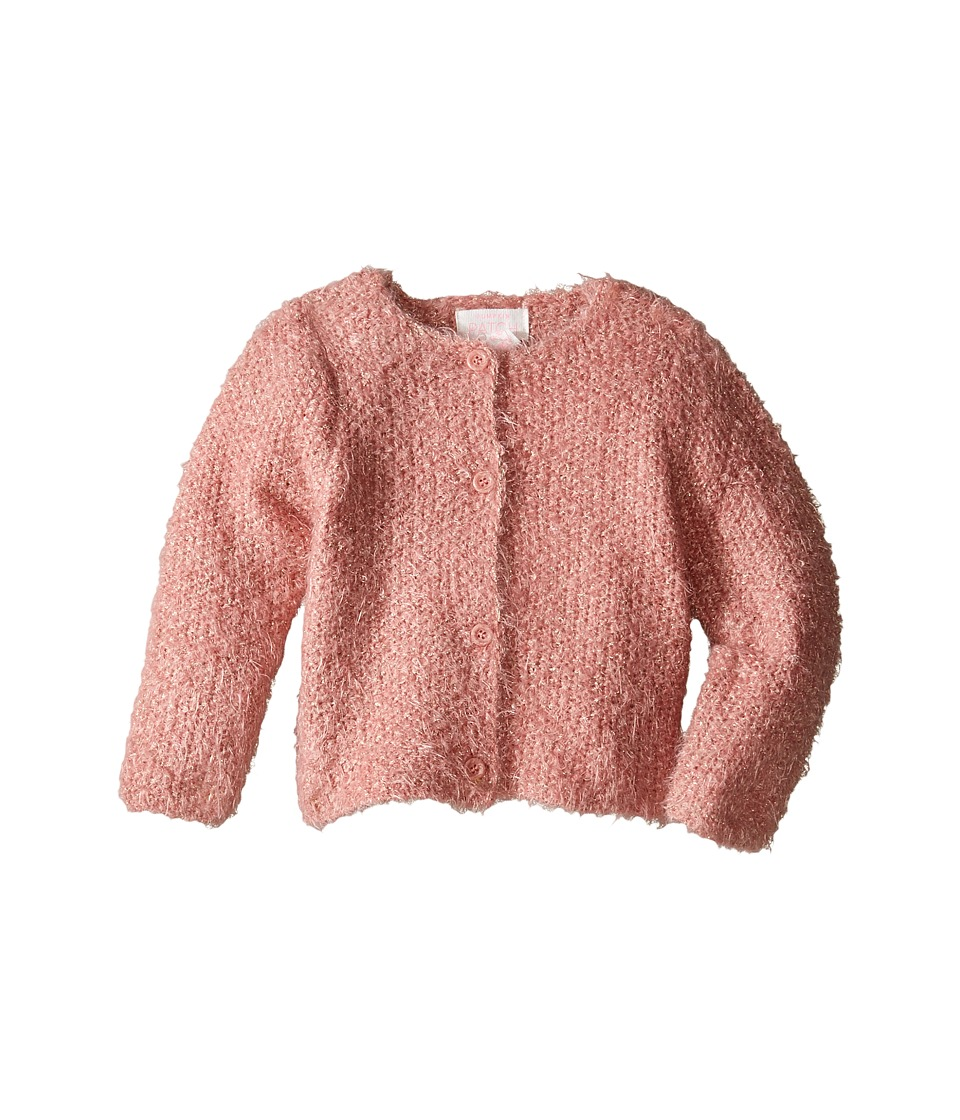 Pumpkin Patch Kids - Cropped Sparkle Cardigan (Infant) (Dusty Rose) Girl's Sweater