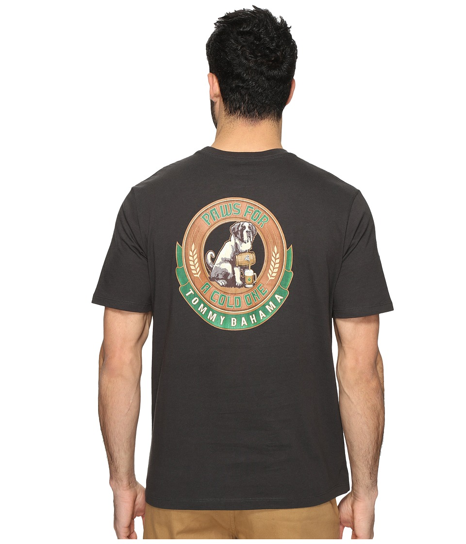 Tommy Bahama - Paws for a Cold One Tee (Coal) Men's T Shirt